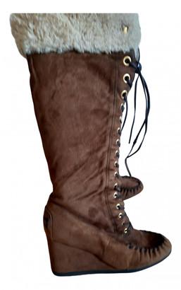 Miu Miu Brown Shearling Boots