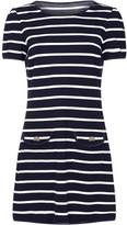 Yumi Curves Nautical Stripe Plus Size Jersey Pocket Tunic