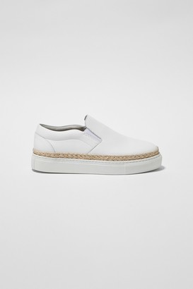 French Connection Remi Leather Espadrille Trainer