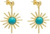 Celestial Sunburst Drop Earrings Turquoise