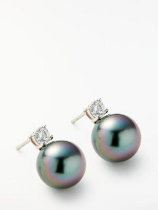Lido Cultured Tahitian Pearl Stud Earrings, Black