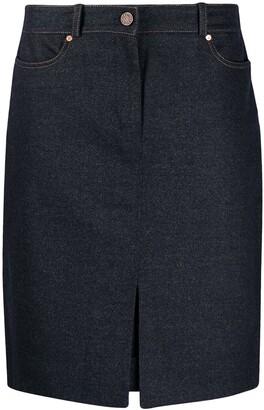 Céline Pre Owned High Waist Knee-Length Skirt