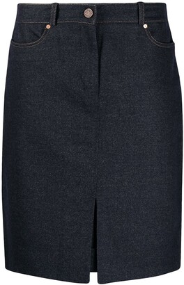Céline Pre-Owned High Waist Knee-Length Skirt