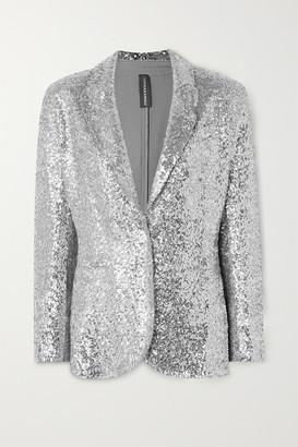 Norma Kamali Sequined Jersey Blazer - Silver
