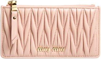 Miu Miu Matelasse Leather Zip Card Case