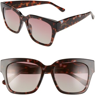 DIFF Bella II 55mm Polarized Square Cat Eye Sunglasses