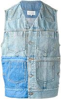 Maison Margiela patchwork denim waistcoat - men - Cotton - 46