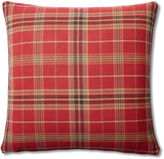 French Laundry Home Plaid 20x20 Cotton Pillow, Red