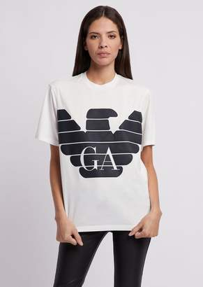 Emporio Armani R-Ea-Mix T-Shirt With Printed Maxi Logo