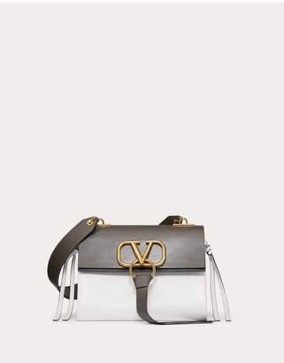 Valentino Garavani Small Vring Smooth Calfskin And Buffalo Leather Shoulder Bag