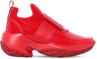 Roger Vivier 75mm Viv Run Patent Fabric Sneakers