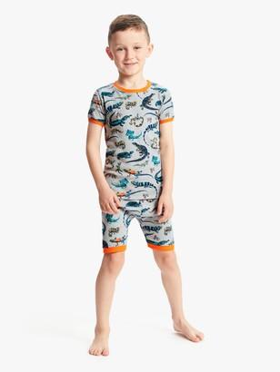 Hatley Boys' Reptile Print Short Pyjamas, Grey