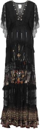 Camilla Paneled Chantilly Lace And Printed Silk-chiffon Maxi Dress