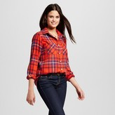 Women's Flannel Button Down Shirt - Mossimo Supply Co. (Juniors')