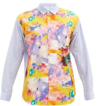 Comme des Garçons Shirt Futura-print Cotton Shirt - Yellow Multi