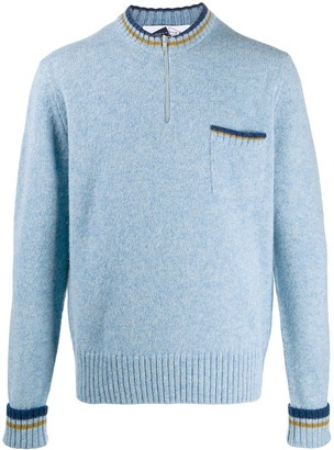Anglozine Stripe Trim Jumper