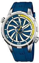 Perrelet Turbine Diver Men's Automatic Watch with Blue Dial Analogue Display and Blue Rubber Strap A1066/3