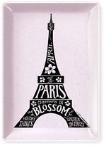 Fringe Eiffel Blossom Glass and Rose Tray- 5 in. X 6 in.