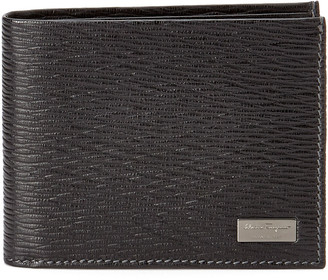 Salvatore Ferragamo Revival Id Window Leather Bifold Wallet