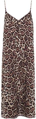 Equipment Jessa Leopard-print Crepe De Chine Midi Slip Dress