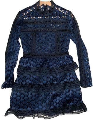 Self-Portrait Blue Lace Dresses