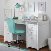 Customize-It Acrylic Storage Pedestal Desk, Simply White