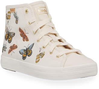 Keds Kickstart Butterfly Canvas High-Top Sneakers