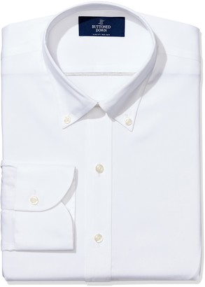Buttoned Down Slim Fit Solid Pocket Options Dress Shirt