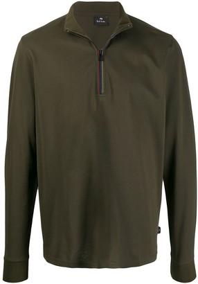 Paul Smith Zip-Up Funnel-Neck Sweatshirt