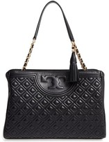 Tory Burch Fleming Leather Shoulder Bag - Metallic