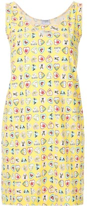 Chanel Pre Owned Heart Printed Mini Dress