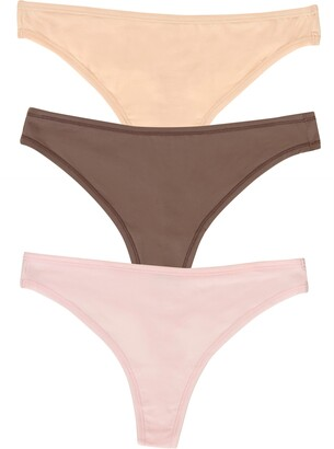 Blissful 3-Pack Stretch Thongs