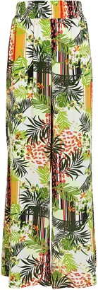 L'Agence Oaklyn Printed Silk Pants