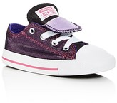 Converse Girls' Chuck Taylor All Star Shimmer Double Tongue Lace Up Sneakers - Toddler