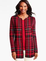 Talbots Bold Plaid Sweater Jacket