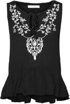 Dex Black Embroidered Top