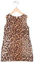 Dolce & Gabbana Girls' Leopard Print Sleeveless Dress