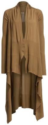 Rick Owens Merino Wool Long Wrap Cardigan
