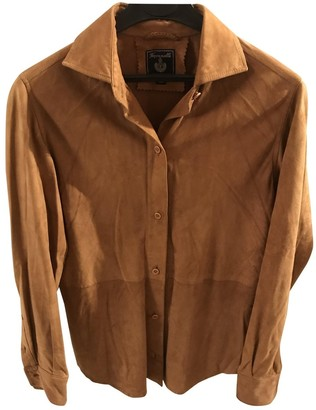 Façonnable Camel Leather Top for Women