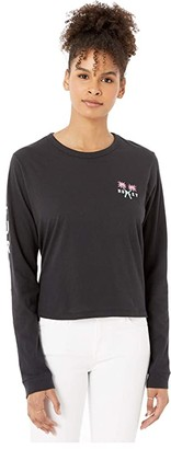 Hurley Mingo Perfect Long Sleeve T-Shirt (Black) Women's Clothing