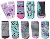 Pink Cookie Girls 9-pk. Pattern Low-Cut Socks