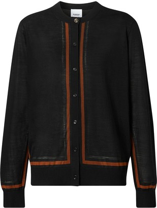 Burberry Fine-Knit Buttoned Cardigan