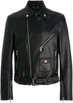 Versace leather biker jacket - men - Lamb Skin/Cupro - 46
