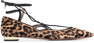 Aquazzura Leopard-Print Ballerina Shoes