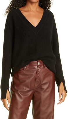 Rag & Bone Pierce Cashmere V-Neck Sweater