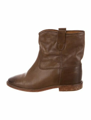 Etoile Isabel Marant Leather Boots Brown