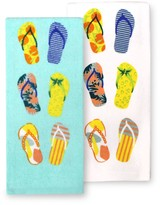 Celebrate Summer Together Flip-Flops Kitchen Towel 2-pk.