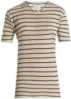 Etoile Isabel Marant Andreia striped linen-blend T-shirt