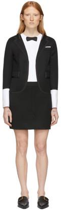 Thom Browne Black Trompe LOeil Mini Tuxedo Dress