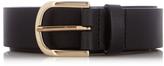 MAISON KITSUNÉ Black leather belt